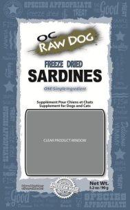 OC Raw Dog Sardines