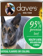 Daves pet food cans